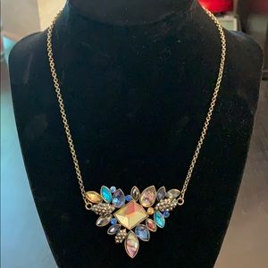 Blue Multi-colored Crystal Necklace